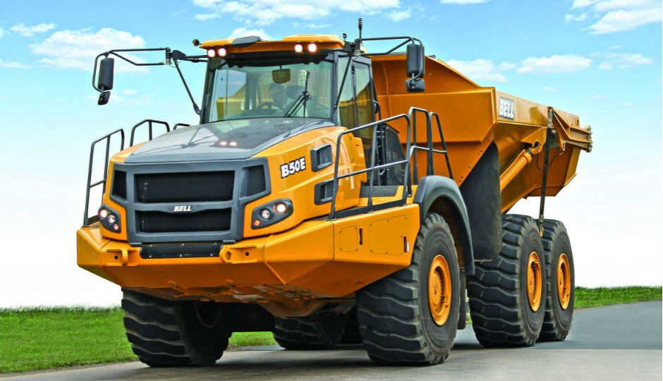 The prototype Bell B50E ADT was on show at Bell Equipment's stand at Intermat 2015, Paris and is destined to succeed the company's ground-breaking B50D.