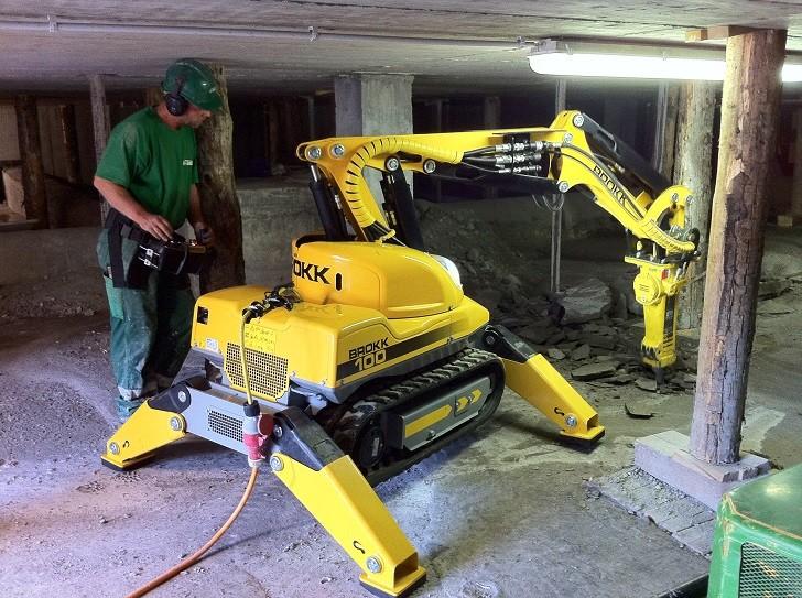 Brokk Introduces Next Generation Remote-Controlled Demolition Machine