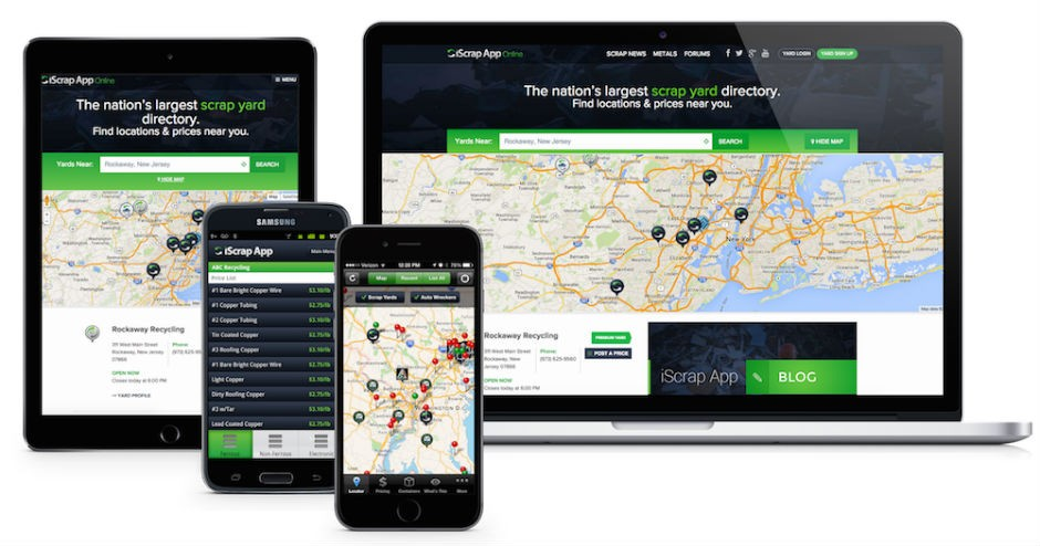 iScrap App Launches New Website, Including Reported Prices for Peddler Customers