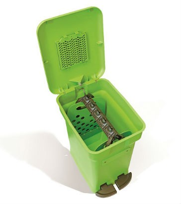 CompoKeeper bins designed to resolve issues with in-home compost disposal
