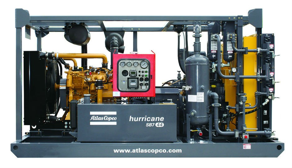 Atlas Copco's compact SMB7-44 Hurricane booster featured at Offshore Technology Conference