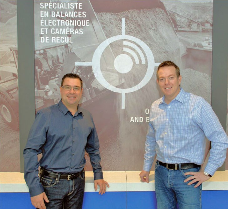 Company President Marc Lefebvre and Hugo La Riviere, VP Sales & Operations welcome visitors to their new offices.