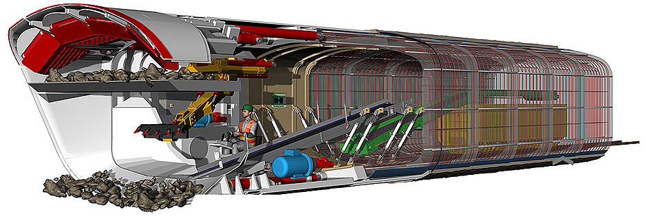 Herrenknecht - MH Box Machine Tunnel Boring Machines