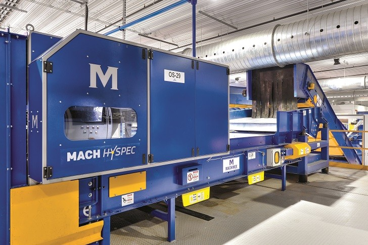 Optical sorting machine uses high-speed detection to analyze belts in less than 1 millisecond for high volume sorting
