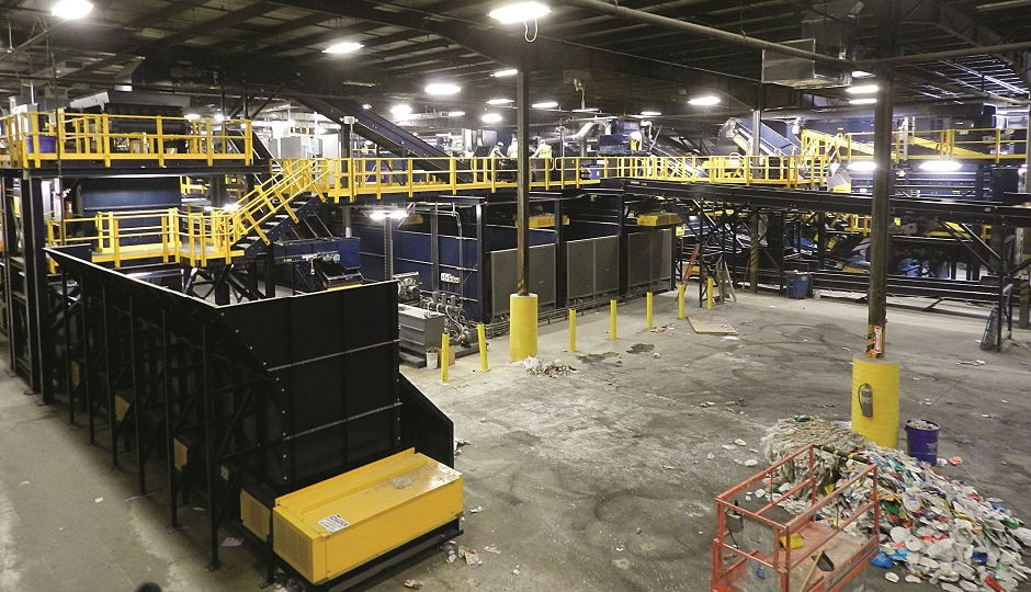 Burlington County's new 35-tons per hour single-stream MRF was designed using advanced sorting technology from CP Group.