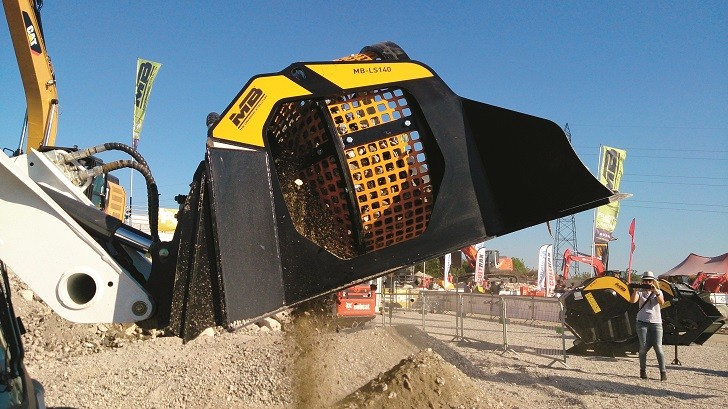 MB Screening Bucket for Loaders, Skid Steers and Backhoes