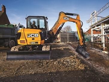 JCB'S 85Z-1 Zero Tail-Swing Excavator