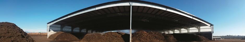 The Enviro-Smart compost facility, Delta, B.C. (Photo courtesy of Green Mountain Technologies.)