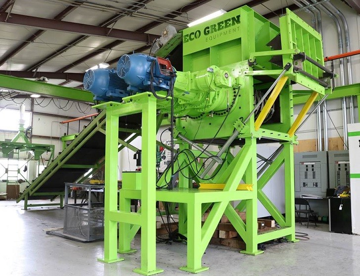 New ECO Green Giant two-shaft tire shredder introduced