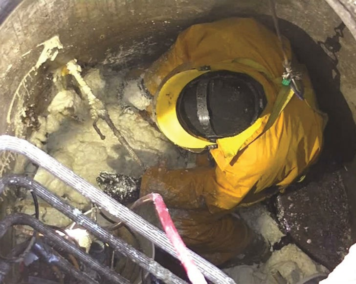 A hydrophophic polyurethane grout from Prime Resins was used to stop a leak in a sanitary sewer line that had been flowing at 23 litres per minute for seven years.