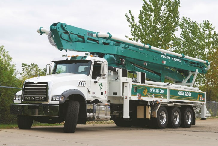 Schwing S 46 SX Available on Mack Granite
