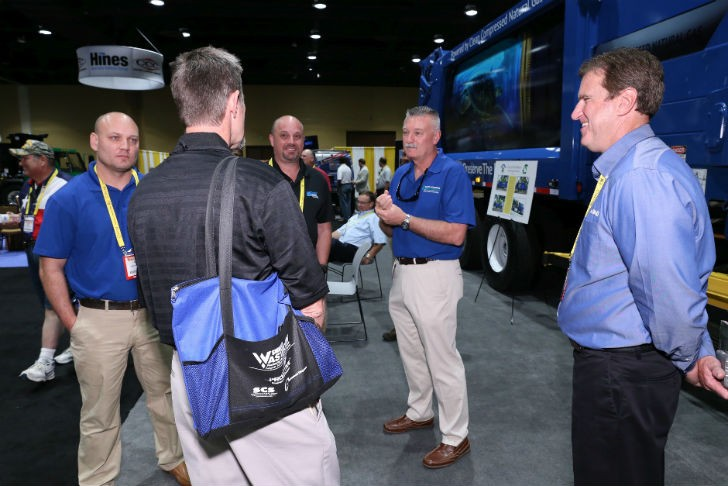 Attendees and exhibitors on the show floor at WASTECON 2015, held August 24-27 in Florida