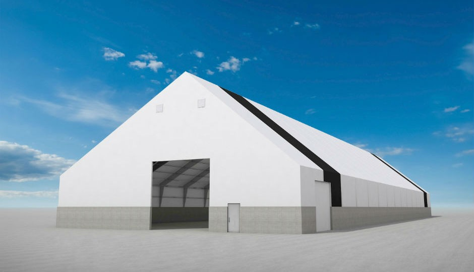 Winkler's new Trident fabric covered building lineup provides clear-span widths up to 250 feet.