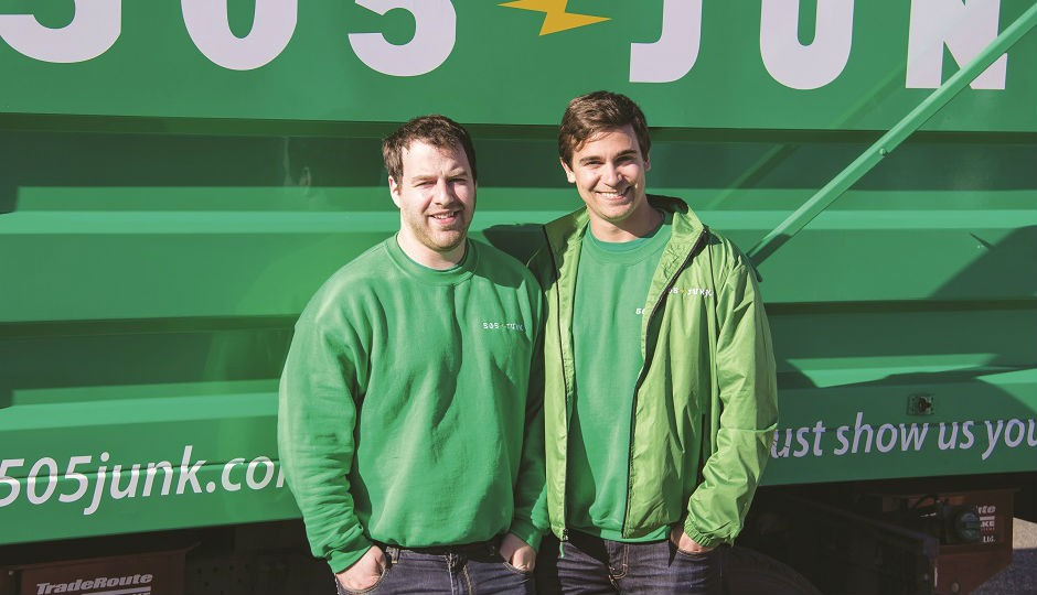 505-JUNK co-founders Scott Foran (left) and Barry Hartman (right) are pioneers in using legal-for-trade onboard weighing technology to charge for waste mateterial collection by weight at the point of pickup.
