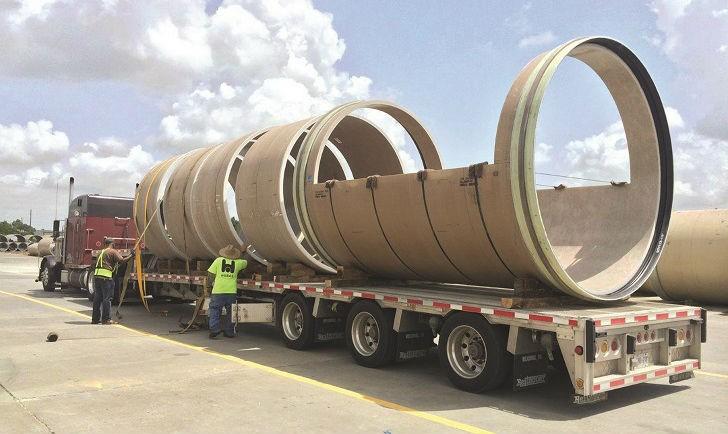 Hobas begins supplying pressure pipe to Montreal highway project