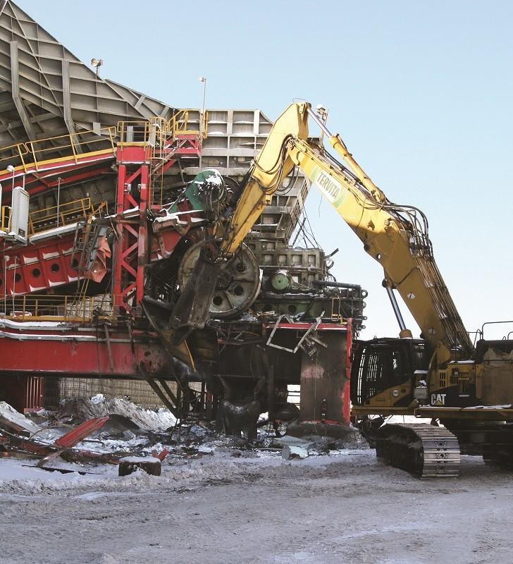 "Demolition in ""the sands"""