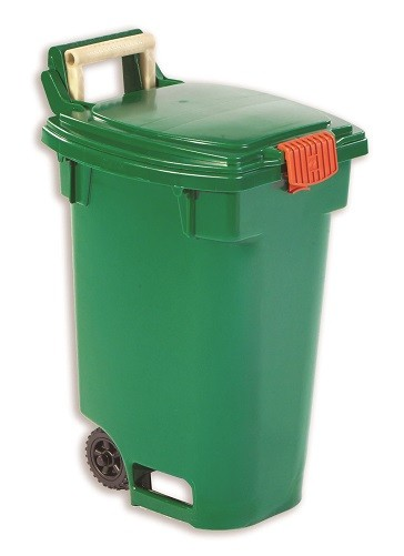 Orbis' Green Bin2 curbside organics cart is designed to keep odours in and keep pests such as raccoons out.
