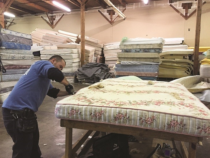 Mattress recycler processes 3,000 units monthly, creates jobs for former inmates