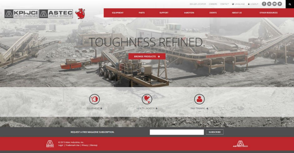 KPI-JCI and Astec Mobile Screens Launches New Website