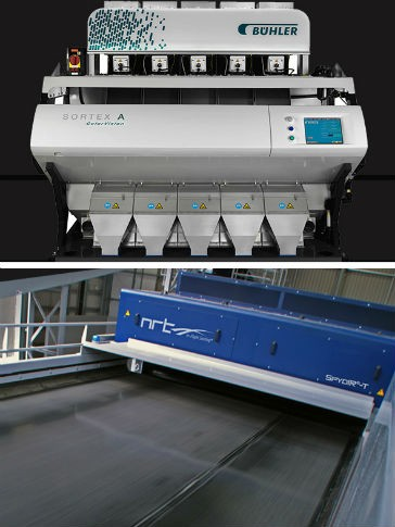Plastic bottle and flake sorting from Buhler Sortex and NRT