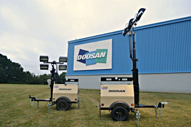 Doosan Portable Power Introduces LSV6 and LSV8 Small-Body Light Towers
