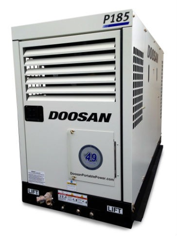 Doosan Portable Power Utility Mount P185 Air Compressor is Designed with Operator in Mind