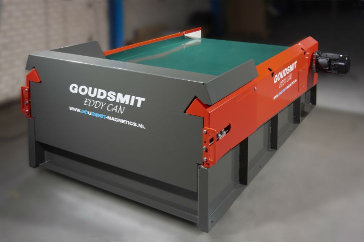 EddyCan sorter is the latest addition to the range of eddy current non-ferro metal separators.
