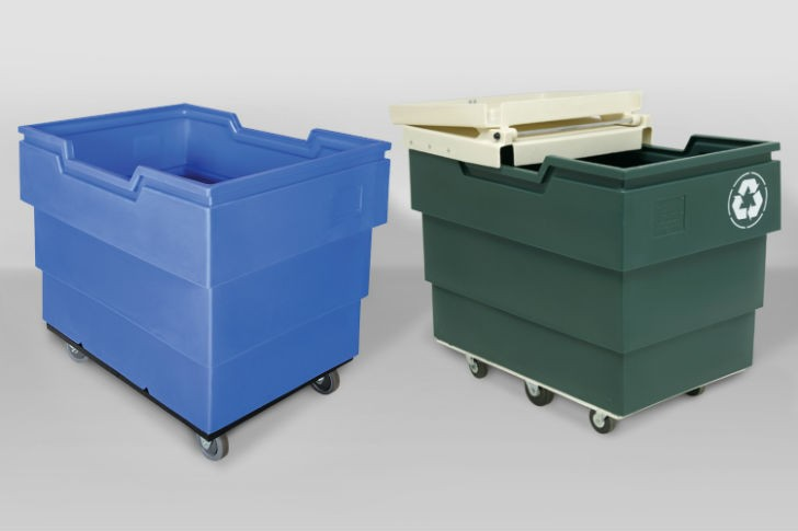 50P-16 Utility Cart (left) and 50P Series recycling cart (right)