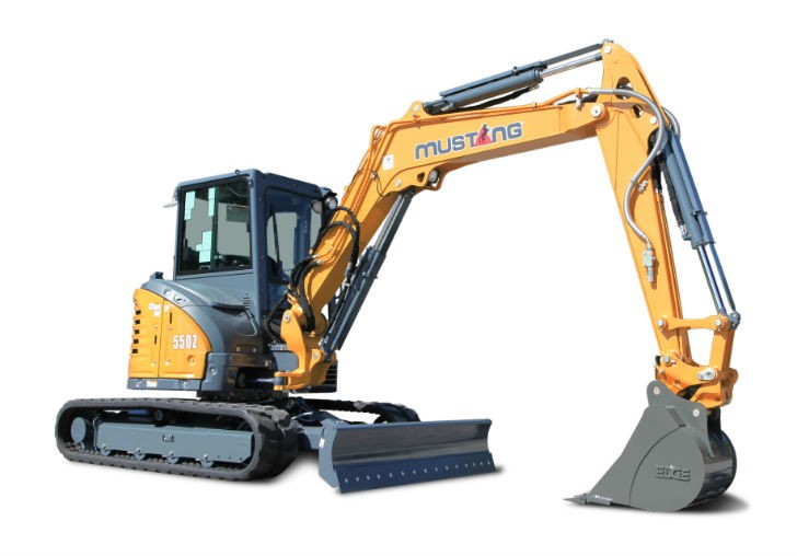 Mustang 550Z zero-tail-swing compact excavator - Heavy Equipment Guide