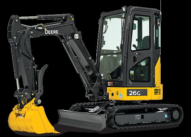 John Deere Construction & Forestry - 26G Compact Excavators
