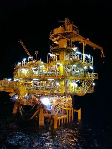 BD Gas Development Wellhead Platform