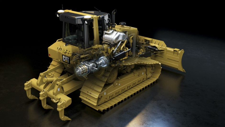 Cat D6N dozer is designed for ease of maintenance.