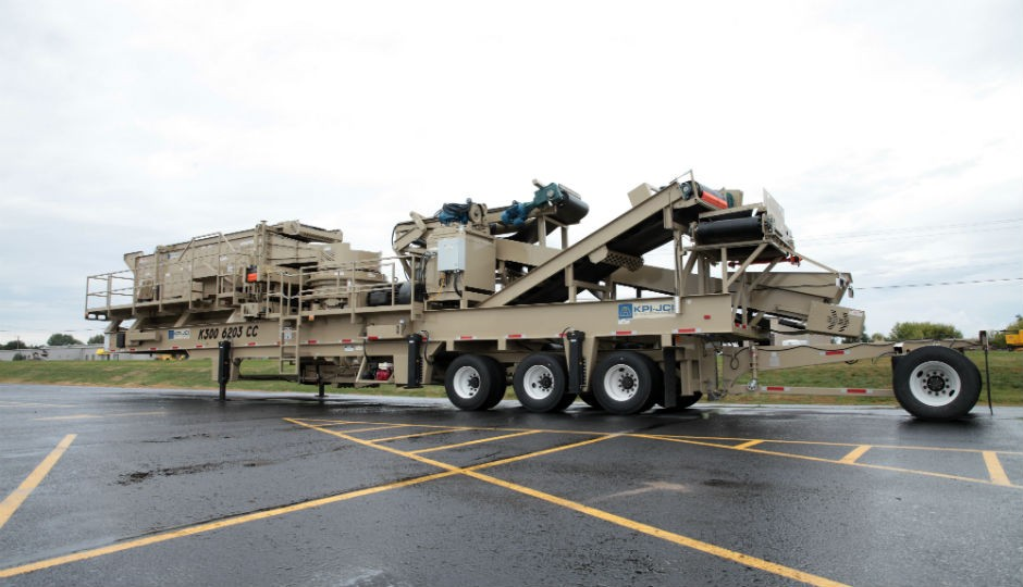 The K300/6203CC mobile crushing and screening plant.