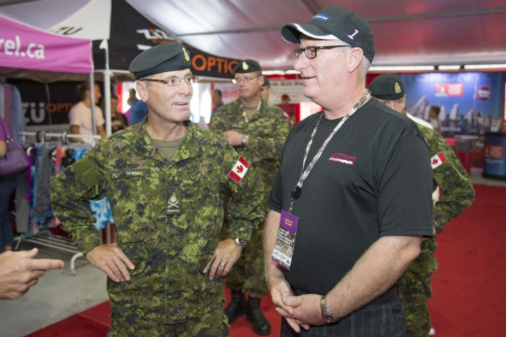 Left to Right: Commander Hainse; Rob Miller, Wittmann Canada