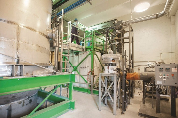 Kason screening and classifying technology, operating at the City of Saskatoon Wastewater Treatment Plant.