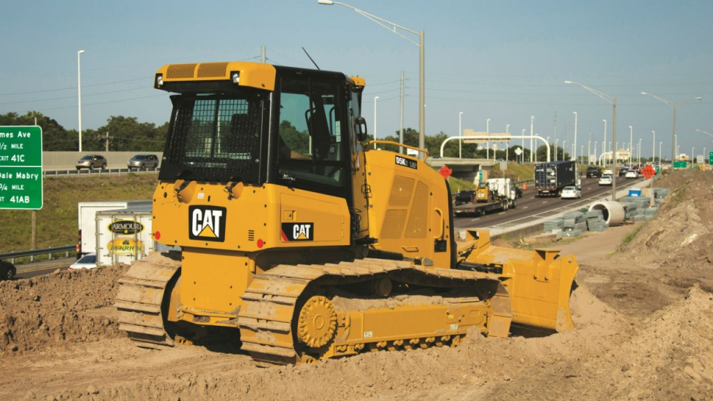 Cat's K2 dozers feature Automatic Traction-Control and Slope