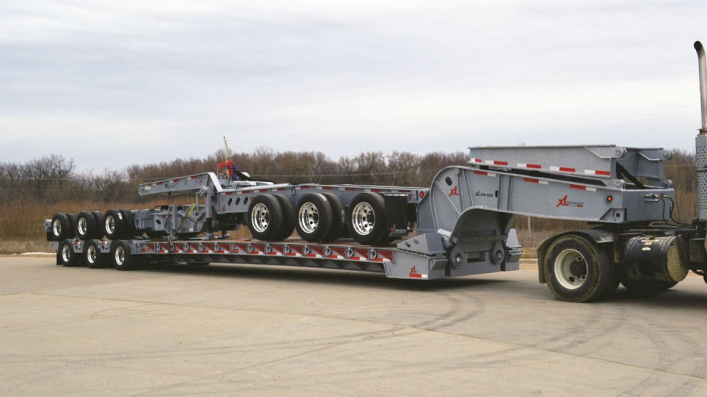 The XL 140 Hydraulic Detachable Extendable 13-Axle trailer.