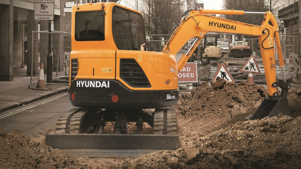 R60CR-9A compact excavator.