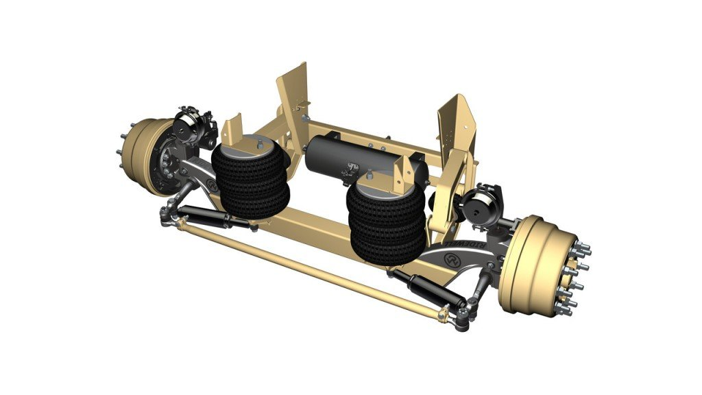 RSS‐233T self‐steering, liftable axle/suspension system.