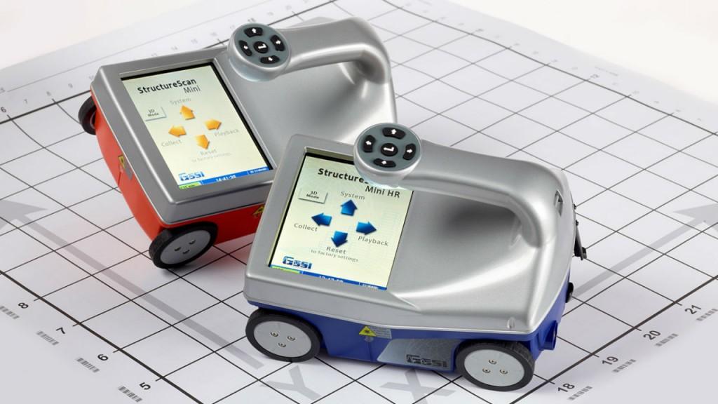 StructureScan Mini XT handheld GPR.