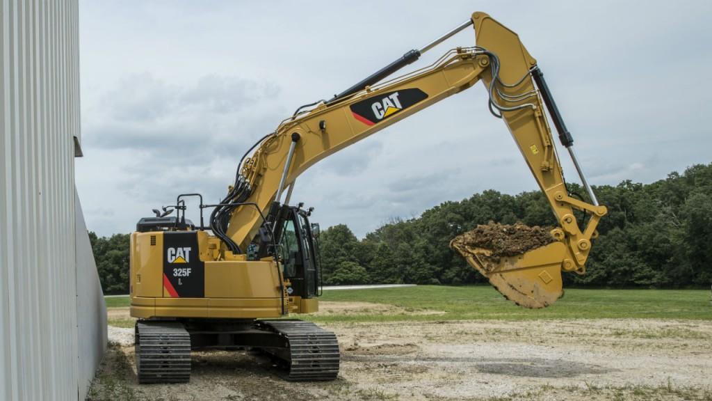 Cat 325F hydraulic excavator.