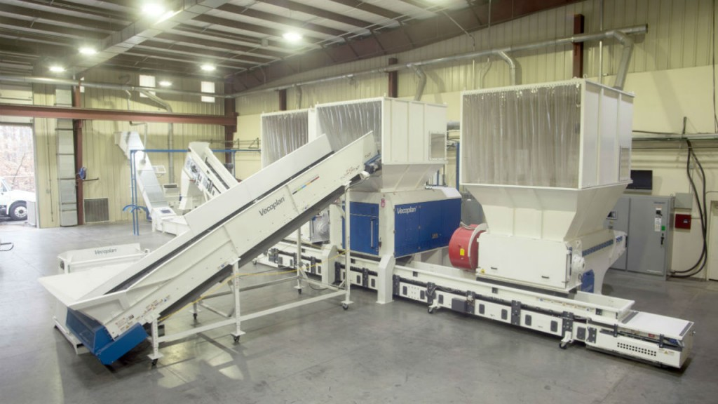 The new test lab contains four of Vecoplan's most popular shredders and a plastics granulator.
