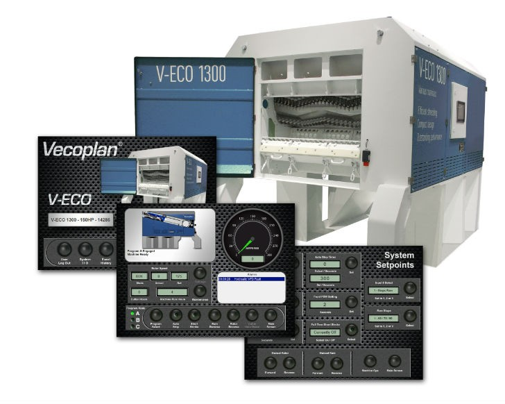 V-ECO shredder series, reengineered the control panels for the North American market.