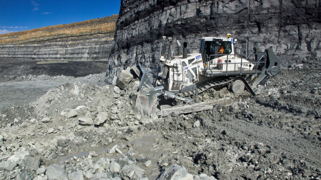 The new Liebherr crawler tractor PR 776 is suitable for mining and quarry operations.