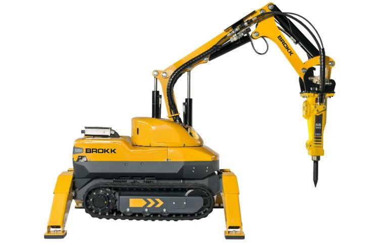 Brokk 120D Diesel demolition machine with SB 152 breaker.