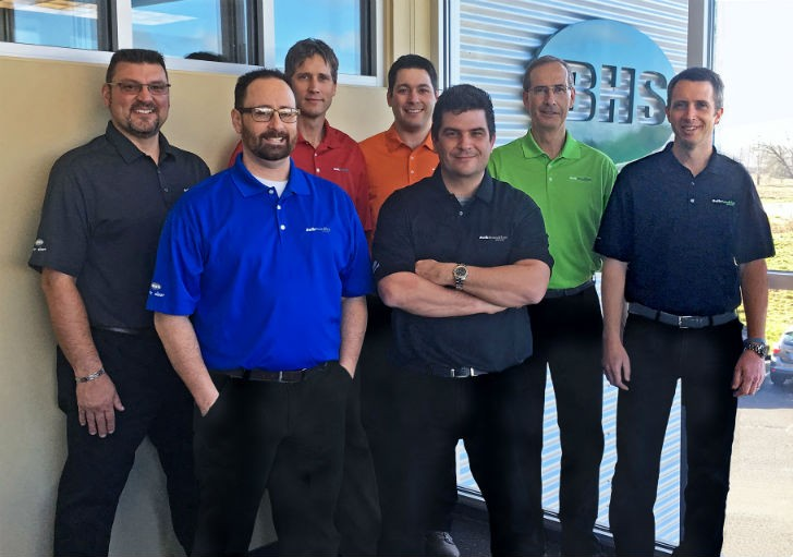 The BHS North American Sales Team (Left to Right):  Ken Smakula, Rich Reardon, Richard Sweet, Randy Roy, James Haidos, Eric Winkler and Travis Curtis.