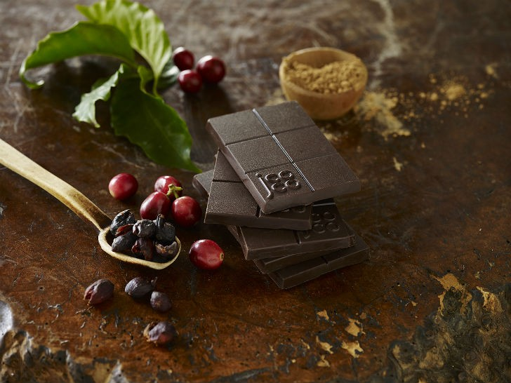 CoffeeFlour team showcase a new Arabica Cherry Espresso Dark Chocolate Bar from Seattle Chocolates' jcoco line.