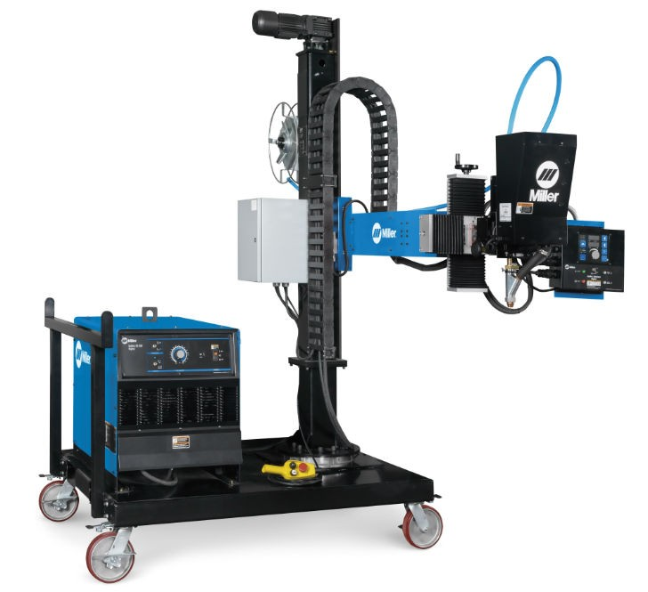 Miller has introduced a new compact, turnkey submerged arc welding solution — the SubArc Portable Welding System. This self-contained, ready-to-weld system contains the power source, column and boom on a mobile platform.