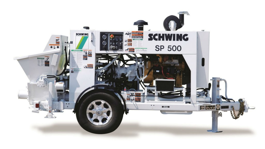 SP 500 stationary concrete pump is a versatile machine with CAT C3.4B diesel engine.