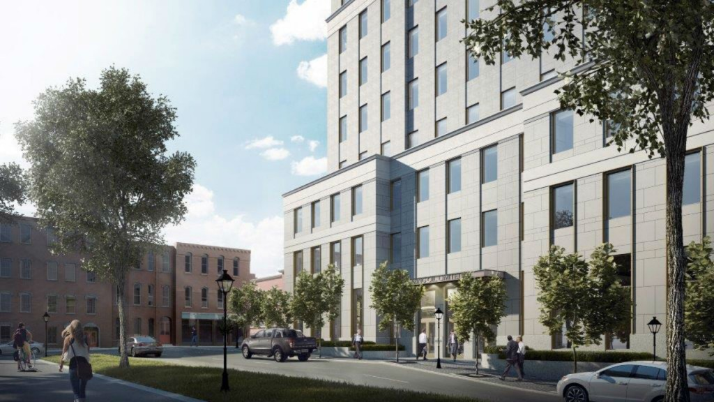 The design of the building will be strongly classical, blending all the benefits of modern building design, with the goal of honouring and enhancing the heritage character of uptown Saint John.